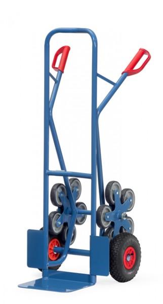 fetra® TK1327 Treppenkarre - 200 kg Tragkraft, Luftbereifung und 2 fünfarmige Rad-Sterne