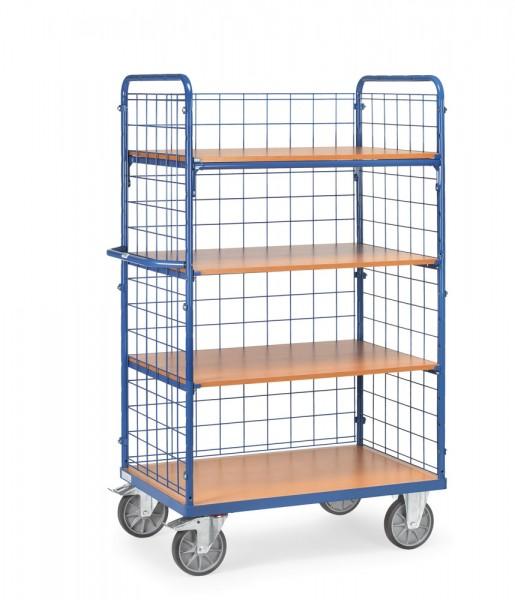 fetra® 8413-1 Etagenwagen mit Gitterwänden und Längswand