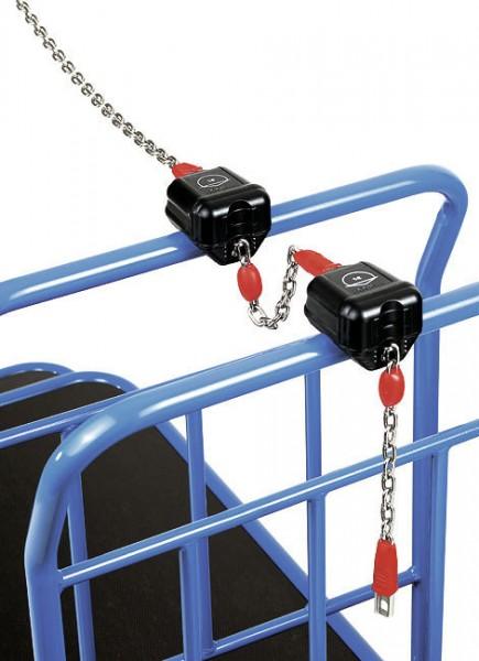 fetra® 2913 Wandanschlusskette für Einkaufswagen - für Pfandschloss - 1,2m lang