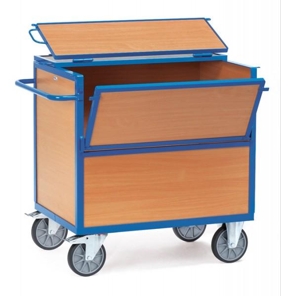 fetra® 2853 Holzkastenwagen mit Deckel