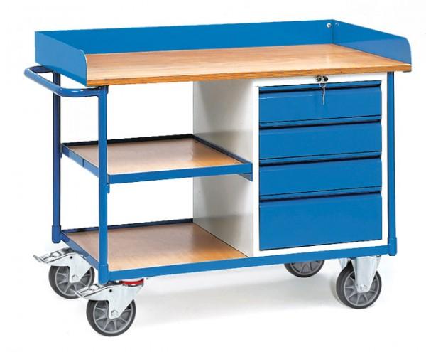 fetra® 2437 Werkstattwagen mit Arbeitsplatte und Schubladen