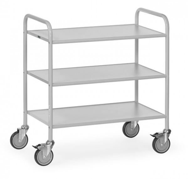 fetra® 4882 Bürowagen mit Rollen und offenen Seitenwänden - 3 Etagen
