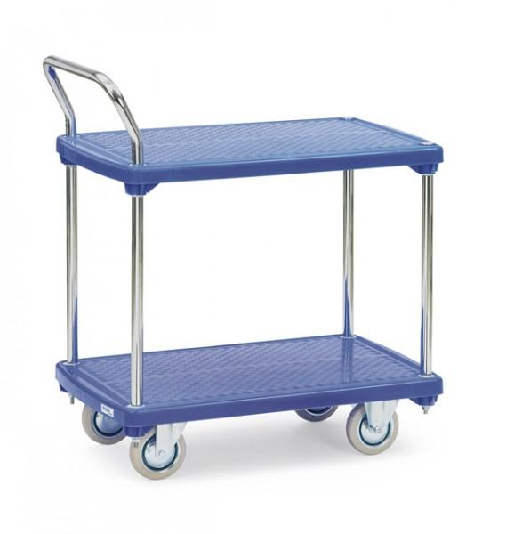 fetra® Kunststoffplattenwagen 3132 -2 Etagen