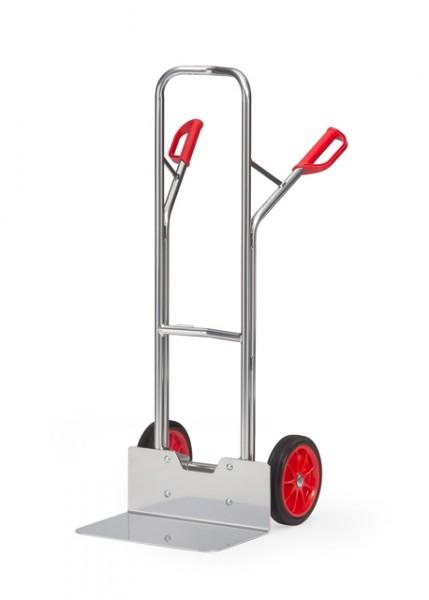fetra® A1326V Alukarre - Vollgummi - 200kg -  breite Schaufel