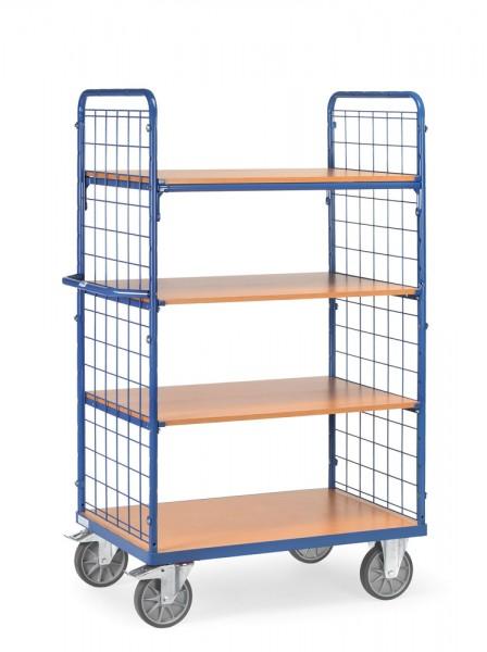 fetra® 8412 Etagenwagen mit Gitterwänden - 4 Etagen