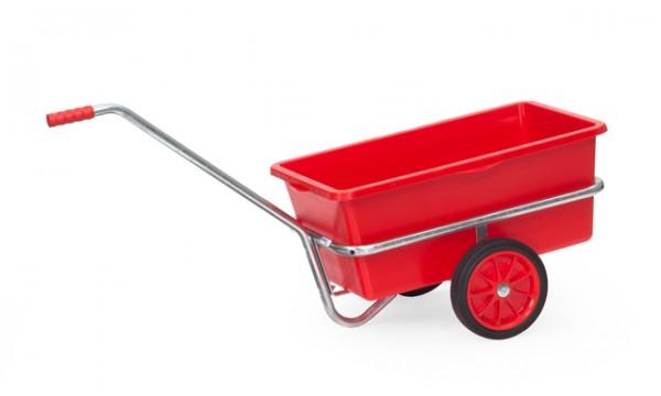 fetra® 6101V Handwagen mit Kunststoffmulde - verzinkt - Vollgummi-Bereifung