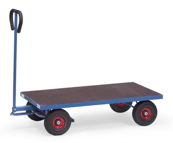 fetra® 4001V Handwagen - 2-Achser - mit Plattform - Vollgummi-Bereifung