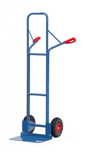 fetra® B1328L Stapelkarre - 300kg - Luftbereifung - breite Schaufel
