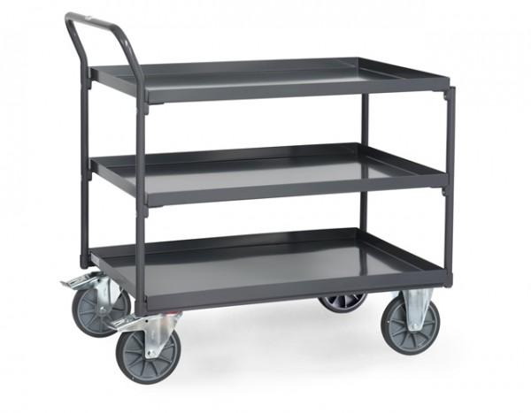 fetra® 9932 ESD-Tischwagen mit Wanne - 3 Etagen