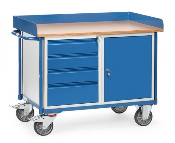 fetra® 2438 Werkstattwagen mit Schrank und Schubladen