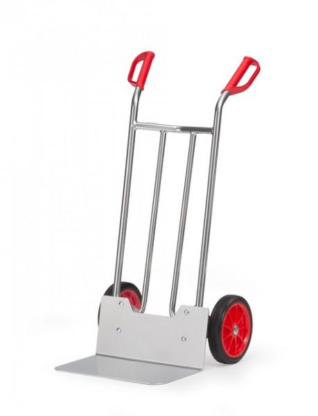 fetra® A1116V Alukarre - Vollgummi-Bereifung - 150kg Tragkraft - breite Schaufel