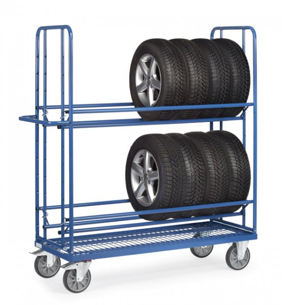 fetra® 4596 Reifenwagen mit Drahtgitter