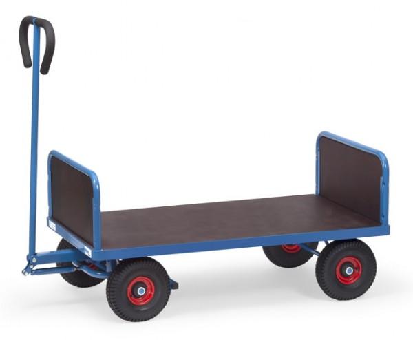 fetra® 4021L Handwagen - 2 Stirnwände - mit Plattform - Luftbereifung