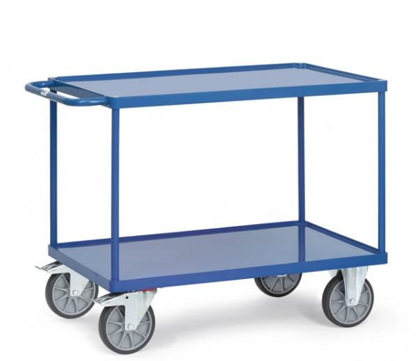 fetra® 2401W Tischwagen mit Wanne - 2 Etagen - Metall