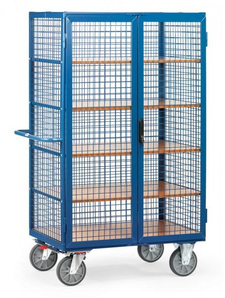 fetra® 5393 Schrankwagen mit Gitterwänden und Türen - abschließbar