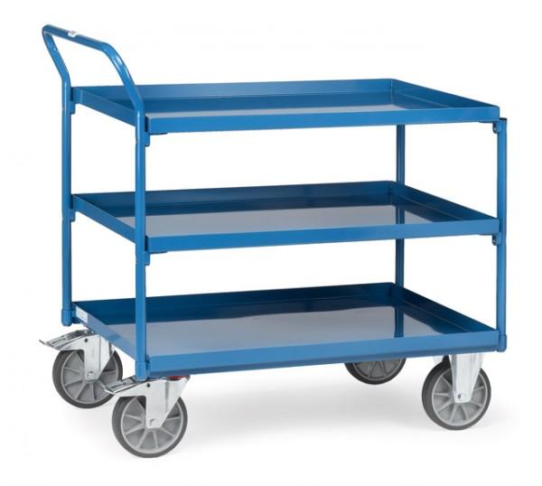 fetra® 4932 Tischwagen mit Wanne - 3 Etagen