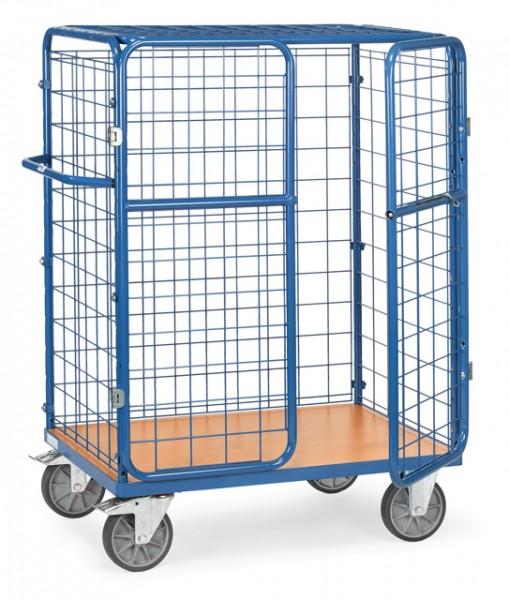 fetra® 8482-3D Paketwagen mit Gitterwänden, Türen und Dach - Höhe 1500mm - abschließbar