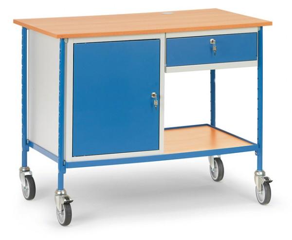 fetra® 5866 Rolltisch mit Schrank und Schublade