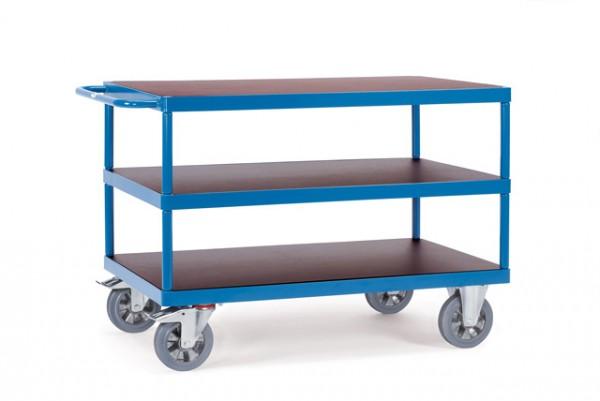 fetra® 12426 Tischwagen Schwerlast - Tragkraft 1200kg - 3 Etagen