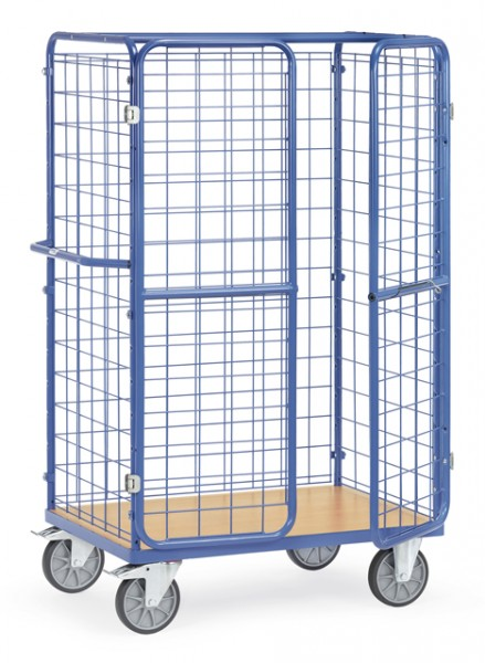 fetra® 8582-3 Paketwagen mit Gitterwänden und Türen - Höhe 1800mm