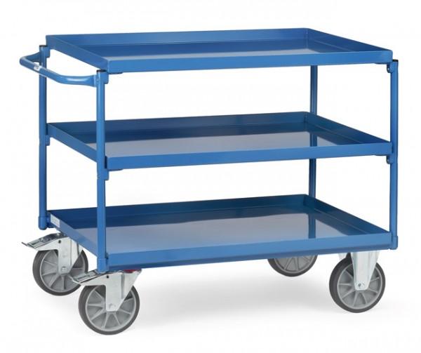 fetra® 4832 Tischwagen mit Wanne - 3 Etagen