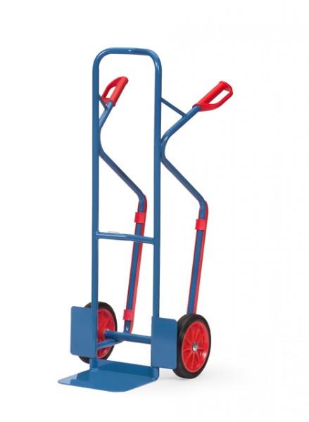 fetra® B1330V Sackkarre - 300kg - Vollgummi-Bereifung - mit Gleitkufen