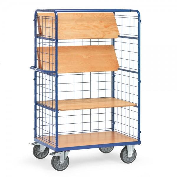 fetra® 8463-1 Etagenwagen klappbar mit Gitterwänden - 4 Etagen