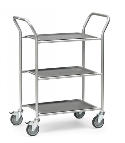 fetra® 5033 Servierwagen mit 3 abnehmbaren Tabletts