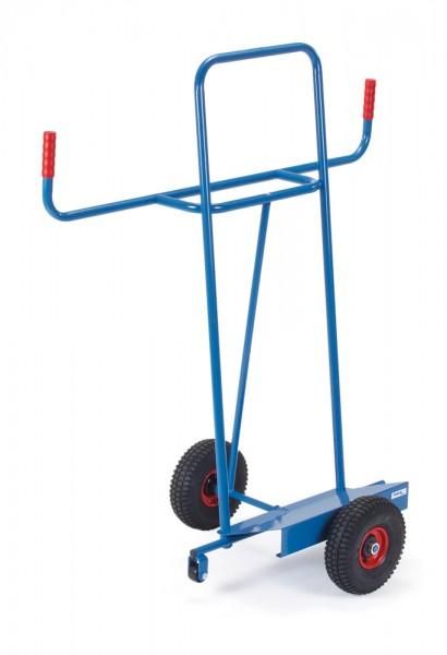 fetra® 1075 Plattenkarre Vollgummi mit Stützrädern