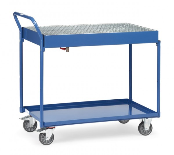 fetra® 2722 Tischwagen mit Wanne und Gitterrost