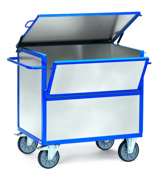 fetra® 2833 Blechkastenwagen aus verzinktem Stahlblech mit Deckel