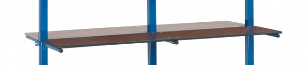 fetra® E4626-1ET Etagenboden für Tragarmwagen mit 370mm Tragarmen und PVC-Schlauch