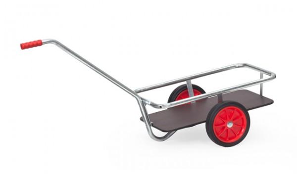 fetra® 6091V Handwagen - Vollgummi - verzinkt