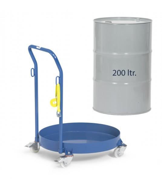 fetra® 13610 Fassroller mit Schiebebügel für 200 Liter Fässer