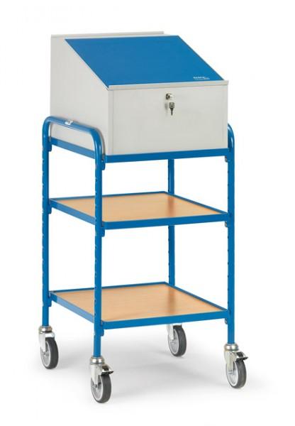 fetra® 5844 Rollpult - 2 Ablageböden und Schreibpult-Aufsatz
