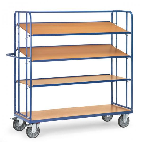 fetra® 4395 Etagenwagen mit verstellbaren Böden
