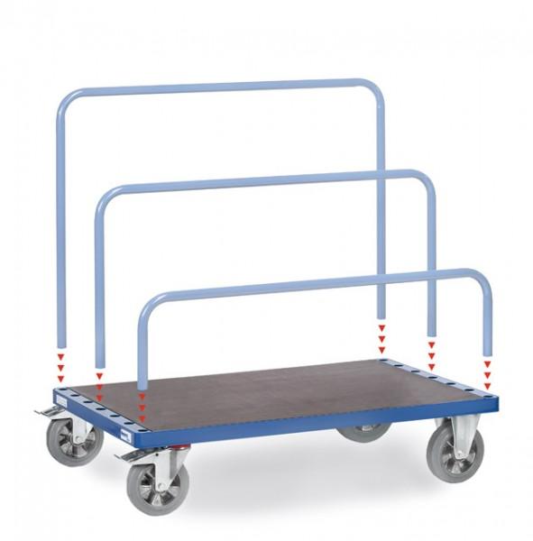 fetra® 4463-1 Plattenwagen - optional mit Bügel - 1200kg