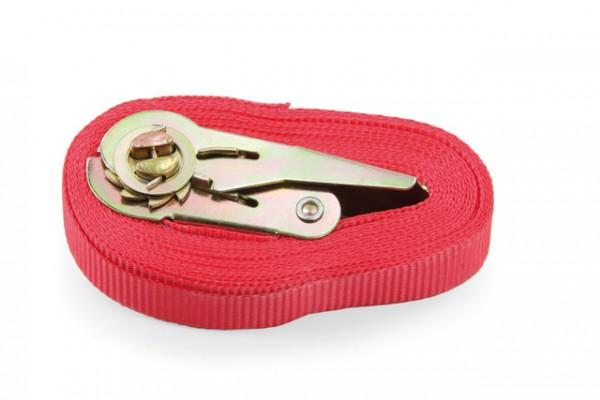 fetra® 11057 Spanngurt - mit Ratschenverschluss, für alle Typen geeignet - Zur Sicherung des Transportgutes. Länge 5 m, Breite 25 mm.