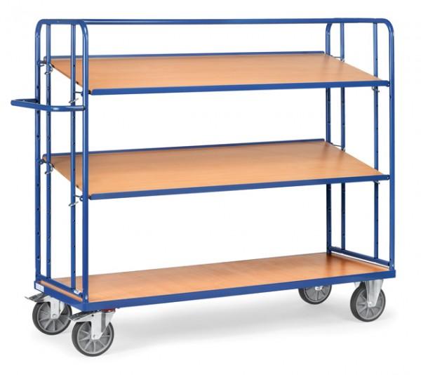 fetra® 4296 Etagenwagen mit verstellbaren Böden