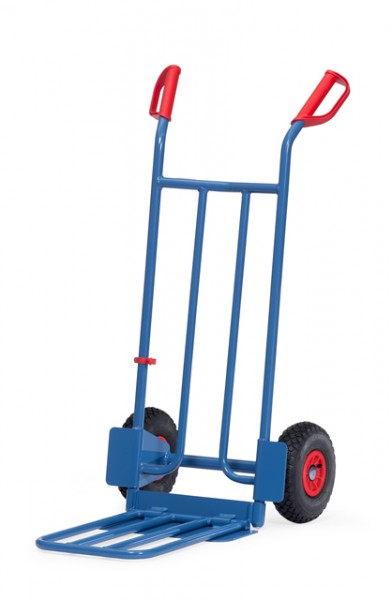 fetra® K1116L Paketkarre - Schaufel klappbar - Luftbereifung