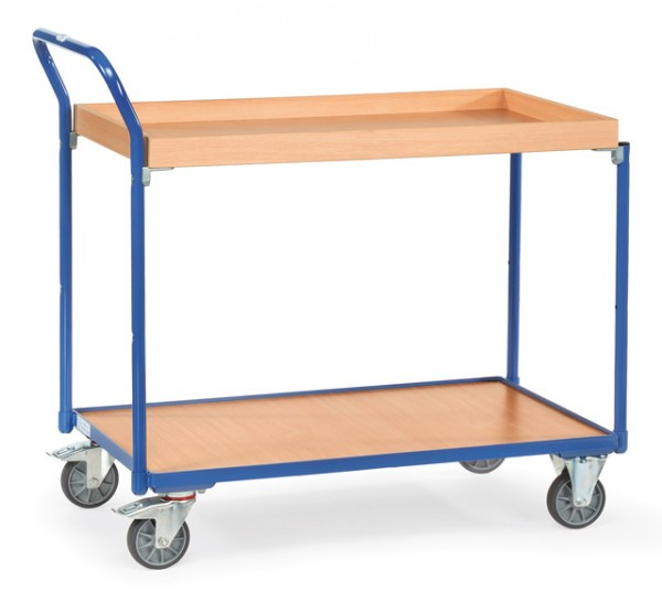 fetra® 3740 Tischwagen mit Rand - Kästen