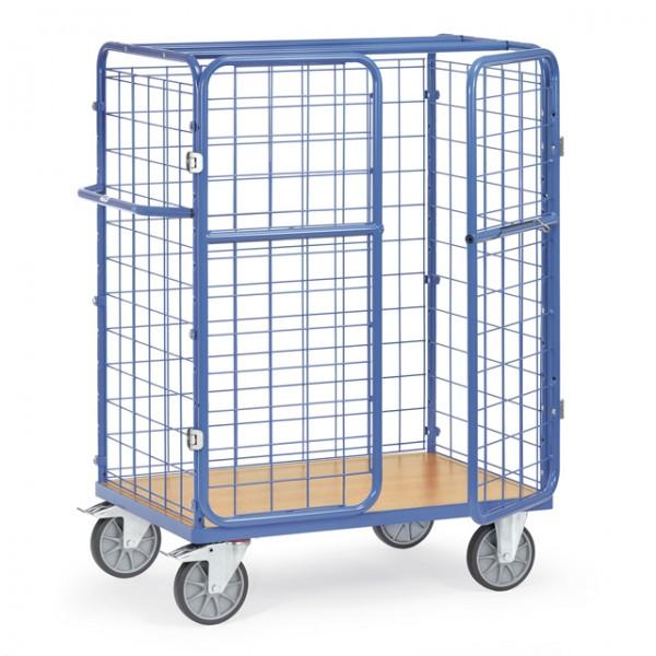 fetra® 8482-3 Paketwagen mit Gitterwänden und Türen - Höhe 1500mm