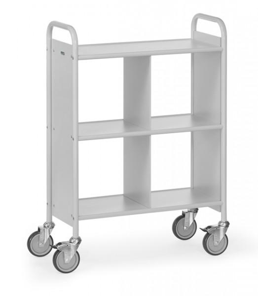 fetra® 4872 Bürowagen mit Rollen und Trennwand