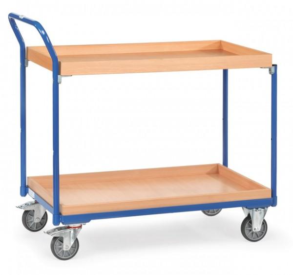 fetra® 3760 Tischwagen mit Rand - Kästen