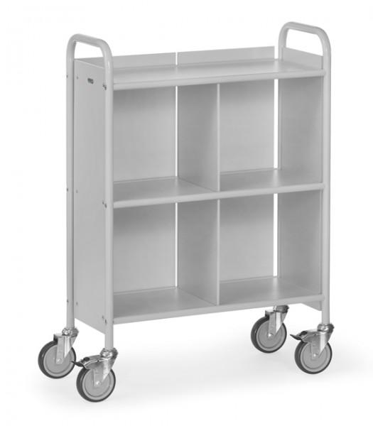 fetra® 4873 Bürowagen mit Rollen, Rückwand und Trennwand