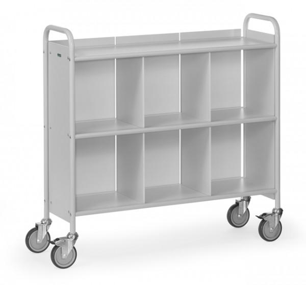 fetra® 4878 Bürowagen mit Rollen, Rückwand und Trennwand
