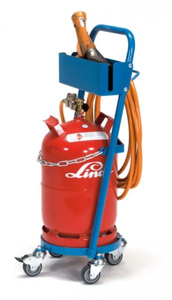 fetra® 51161 Stahlflaschenroller mit Schlauch- und Pistolenhalterung