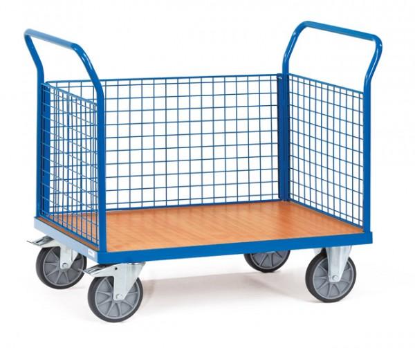 fetra® 1531 Dreiwandwagen mit Drahtgitter