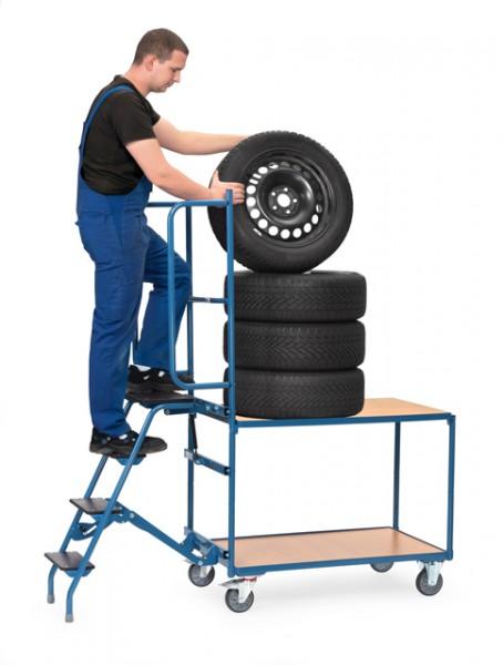 fetra® 4550 Reifenwagen mit Trittstufen und Sicherheitsbügel