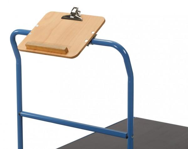 fetra® 1390 Schreibtafel - quer - für Format DIN A4 quer, Holz mit Papierklammer und Stiftablage